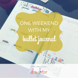 One weekend with my bullet journal! My first weekend using it as a planner--my current collections, spreads, and thoughts on the BuJo life.