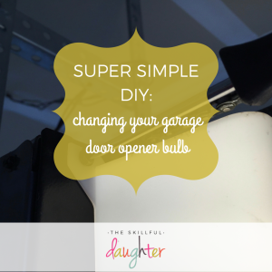 Super Simple DIY Project: Changing your garage door opener bulb | Easy project that takes <15 minutes to complete!