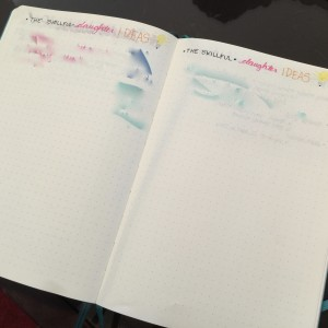 Keeping track of ideas for my blog/website in my Bullet Journal!