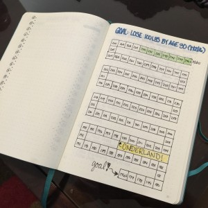 Keeping track of weight loss can be hard. Here's an idea for a weight-loss tracker in my Bullet Journal that will inspire you to keep losing so you can color more squares in!