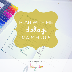 Plan With Me Challenge | #planwithmechallenge | TheSkillfulDaughter