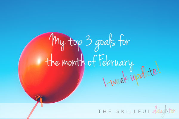 February Goals 1-Week Update