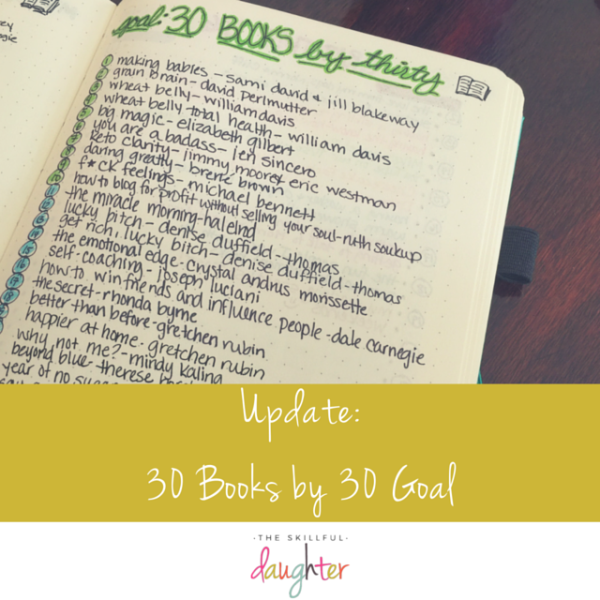 My 30 Books by 30 Goal (UPDATE)
